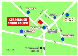 Curborough Location Map